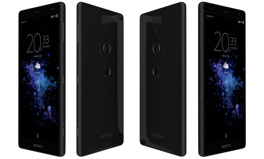 索尼Xperia XZ2液体黑色 royalty-free 3d model - Preview no. 4