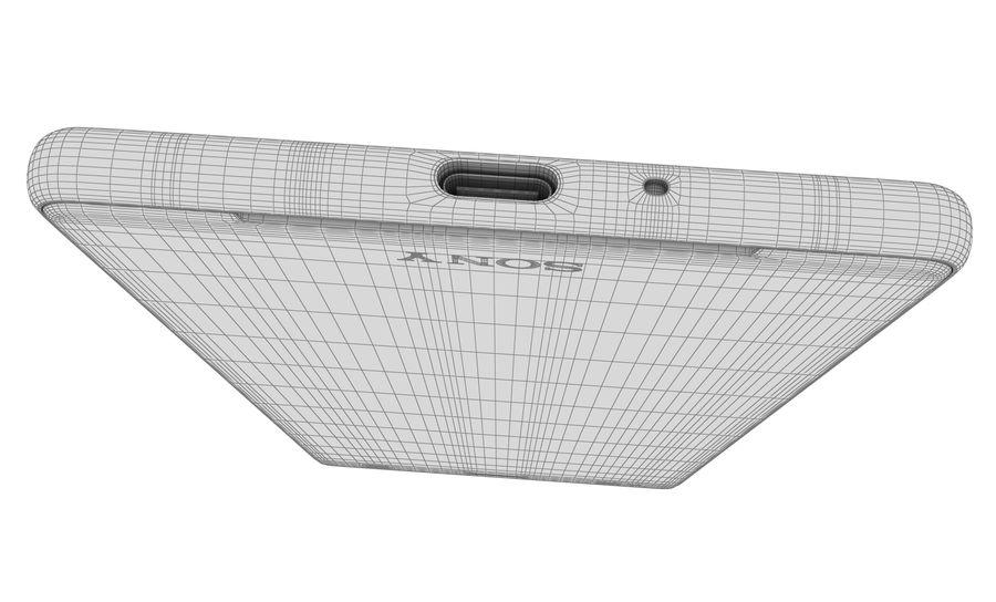 索尼Xperia XZ2液体黑色 royalty-free 3d model - Preview no. 15