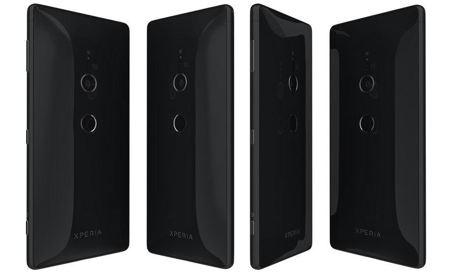 索尼Xperia XZ2液体黑色 royalty-free 3d model - Preview no. 2