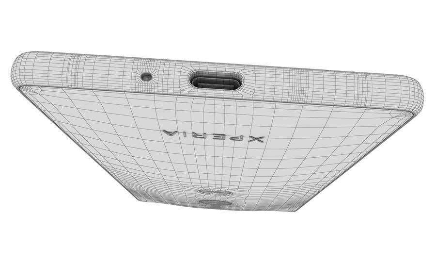 索尼Xperia XZ2液体黑色 royalty-free 3d model - Preview no. 16