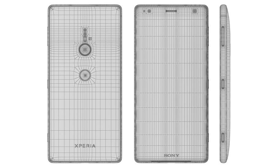 索尼Xperia XZ2液体黑色 royalty-free 3d model - Preview no. 11