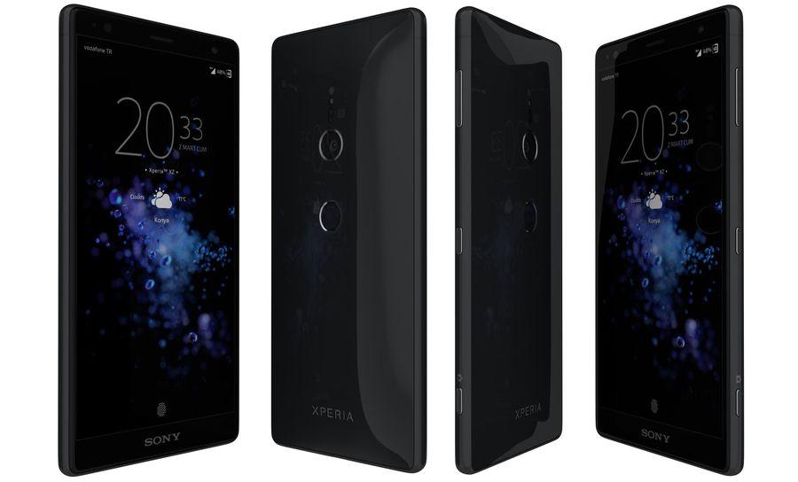 索尼Xperia XZ2液体黑色 royalty-free 3d model - Preview no. 1