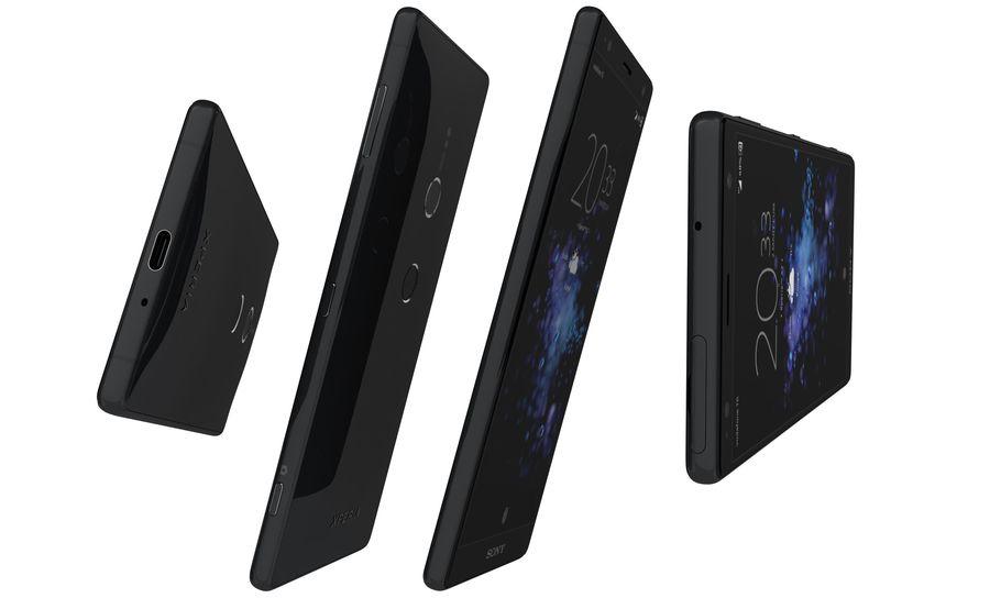 索尼Xperia XZ2液体黑色 royalty-free 3d model - Preview no. 8