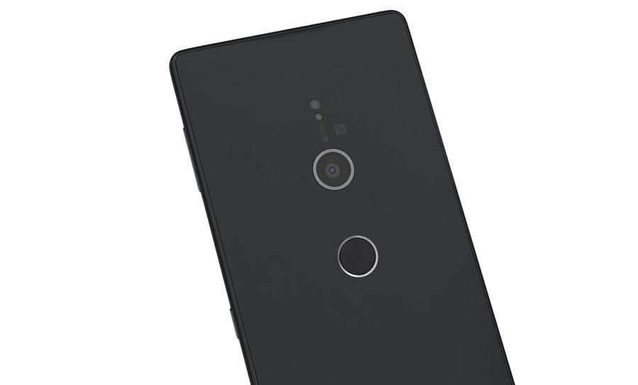 索尼Xperia XZ2液体黑色 royalty-free 3d model - Preview no. 10