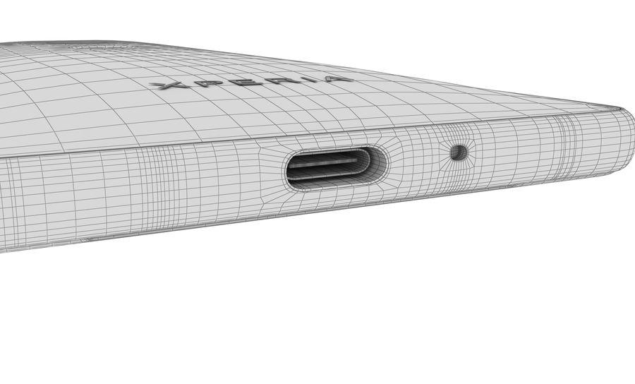 索尼Xperia XZ2液体黑色 royalty-free 3d model - Preview no. 23