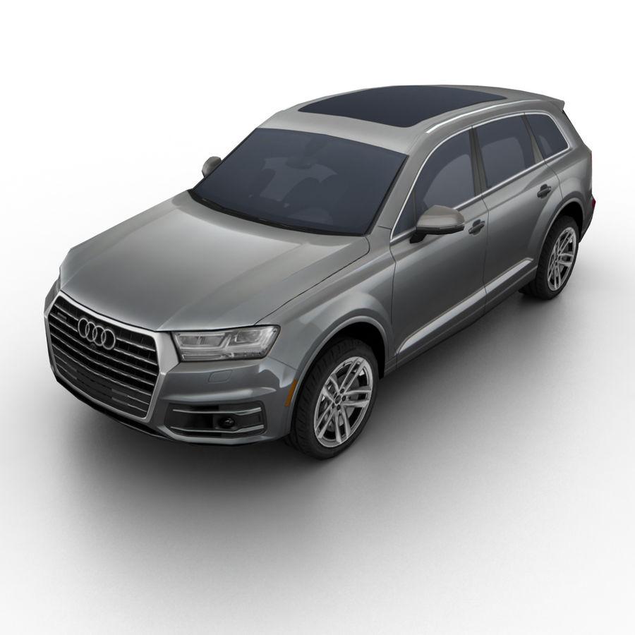 Audi Q7 2017 3D Model $35