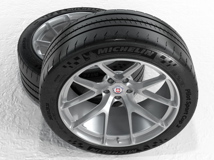 Michelin Pilot Sport Cup 2 royalty-free 3d model - Preview no. 21