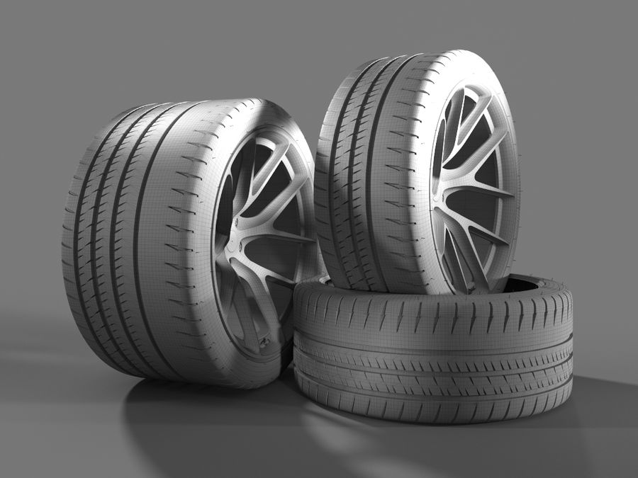 Michelin Pilot Sport Cup 2 royalty-free 3d model - Preview no. 15