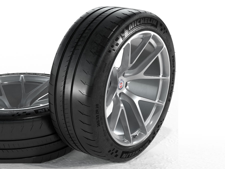 Michelin Pilot Sport Cup 2 royalty-free 3d model - Preview no. 13