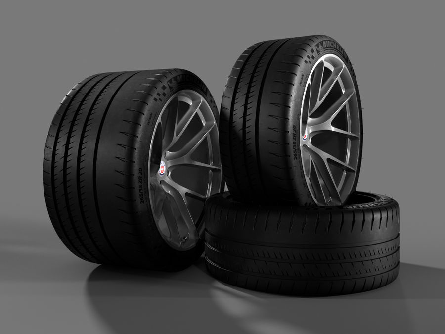 Michelin Pilot Sport Cup 2 royalty-free 3d model - Preview no. 6