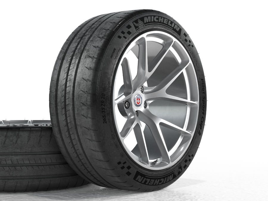 Michelin Pilot Sport Cup 2 royalty-free 3d model - Preview no. 12