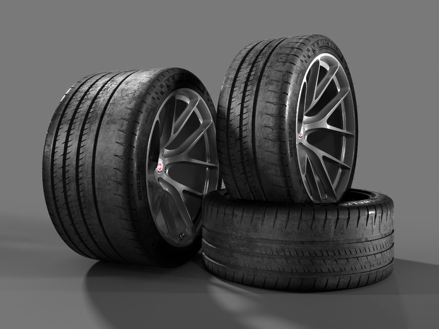 Michelin Pilot Sport Cup 2 royalty-free 3d model - Preview no. 16