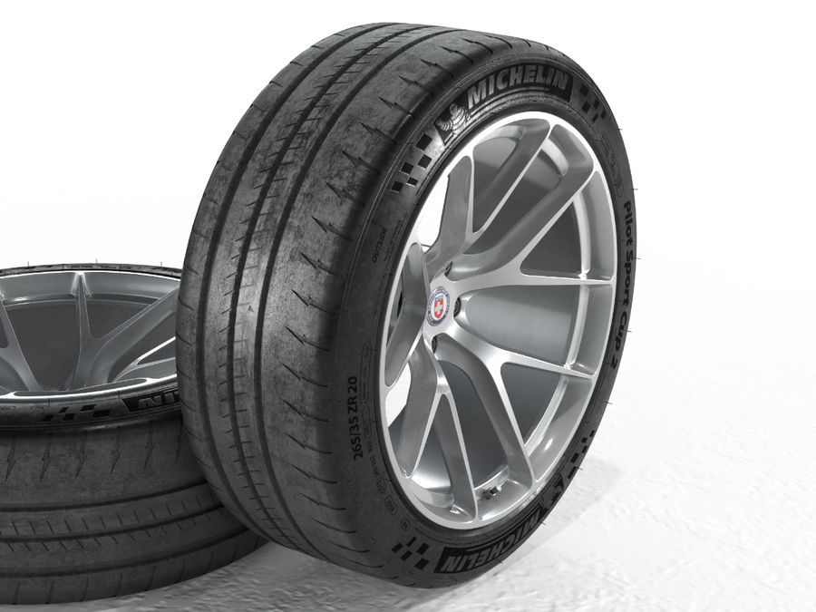 Michelin Pilot Sport Cup 2 royalty-free 3d model - Preview no. 18