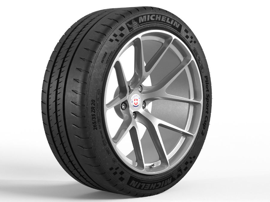 Michelin Pilot Sport Cup 2 royalty-free 3d model - Preview no. 1