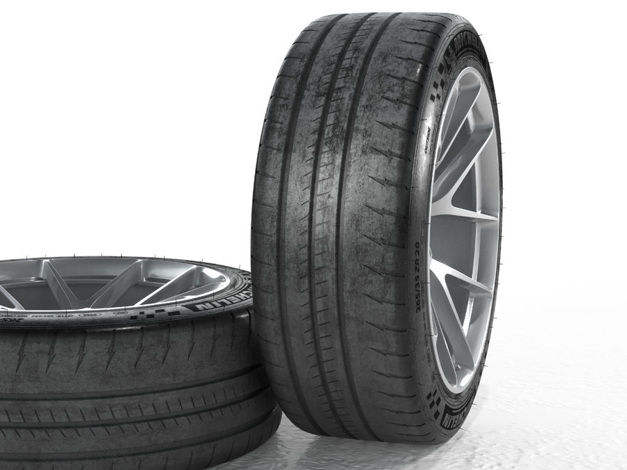 Michelin Pilot Sport Cup 2 royalty-free 3d model - Preview no. 11