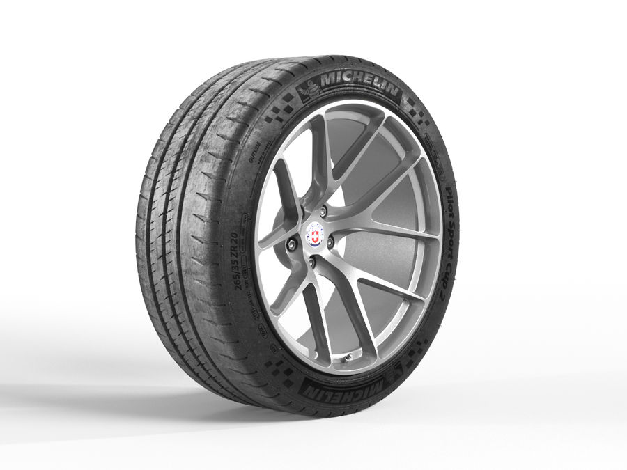 Michelin Pilot Sport Cup 2 royalty-free 3d model - Preview no. 3