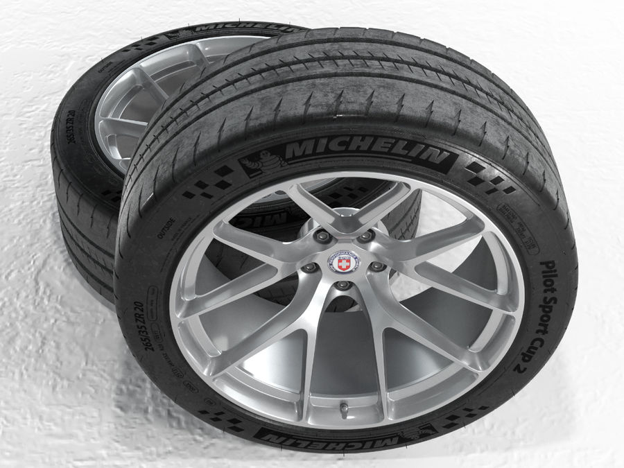 Michelin Pilot Sport Cup 2 royalty-free 3d model - Preview no. 22