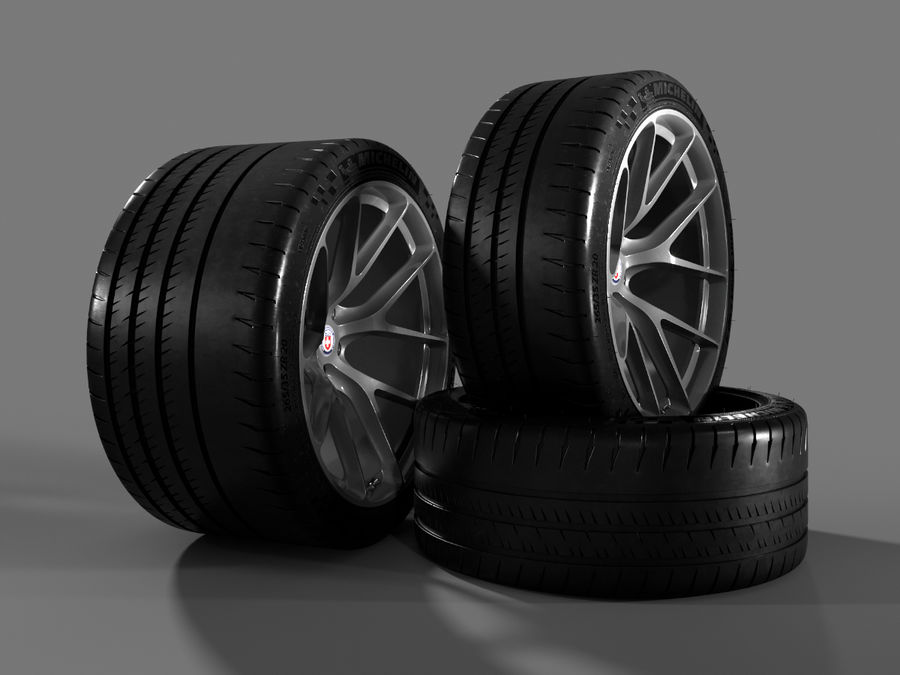 Michelin Pilot Sport Cup 2 royalty-free 3d model - Preview no. 5