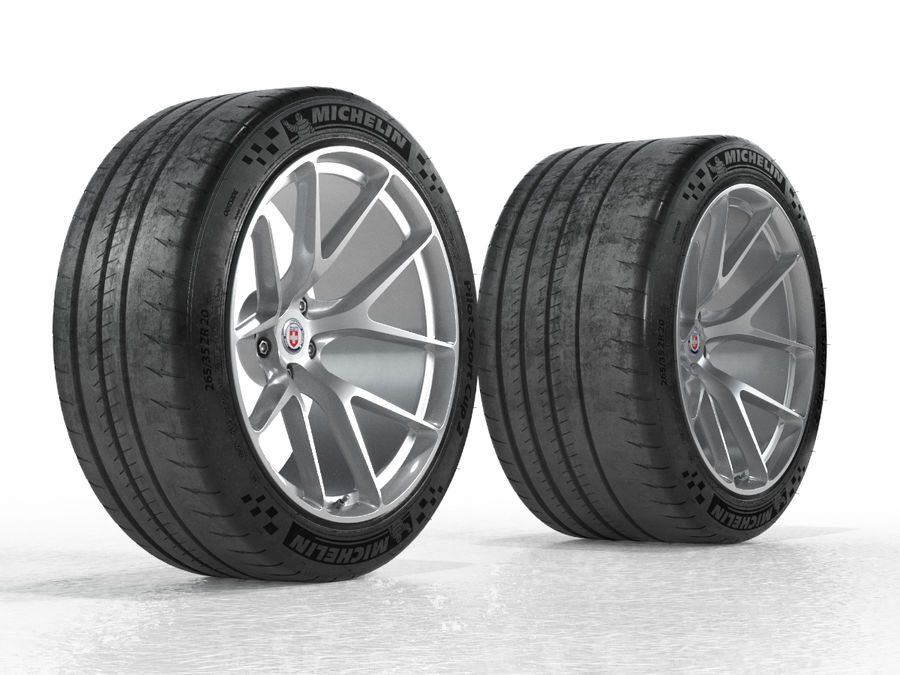 Michelin Pilot Sport Cup 2 royalty-free 3d model - Preview no. 20