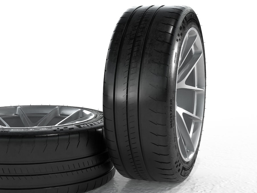 Michelin Pilot Sport Cup 2 royalty-free 3d model - Preview no. 4