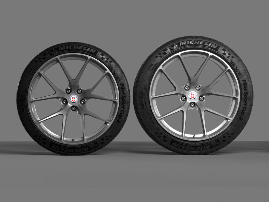 Michelin Pilot Sport Cup 2 royalty-free 3d model - Preview no. 9