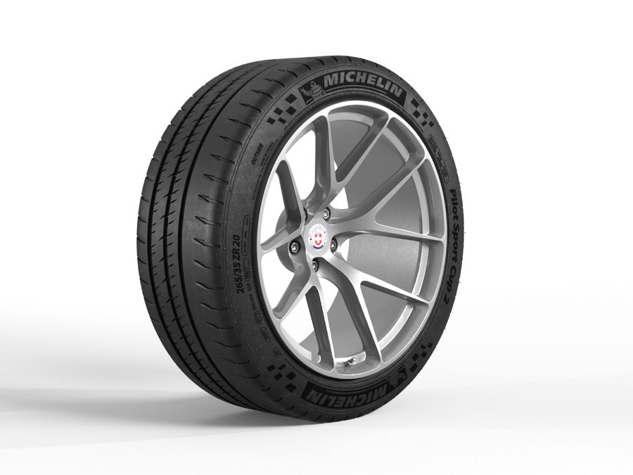 Michelin Pilot Sport Cup 2 royalty-free 3d model - Preview no. 2