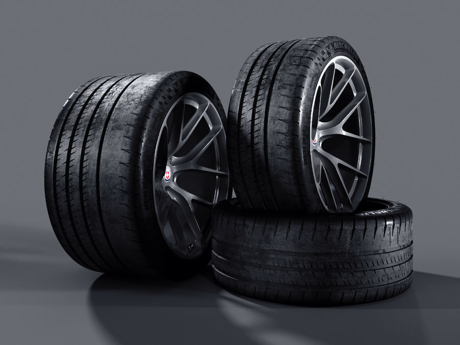 Michelin Pilot Sport Cup 2 royalty-free 3d model - Preview no. 23