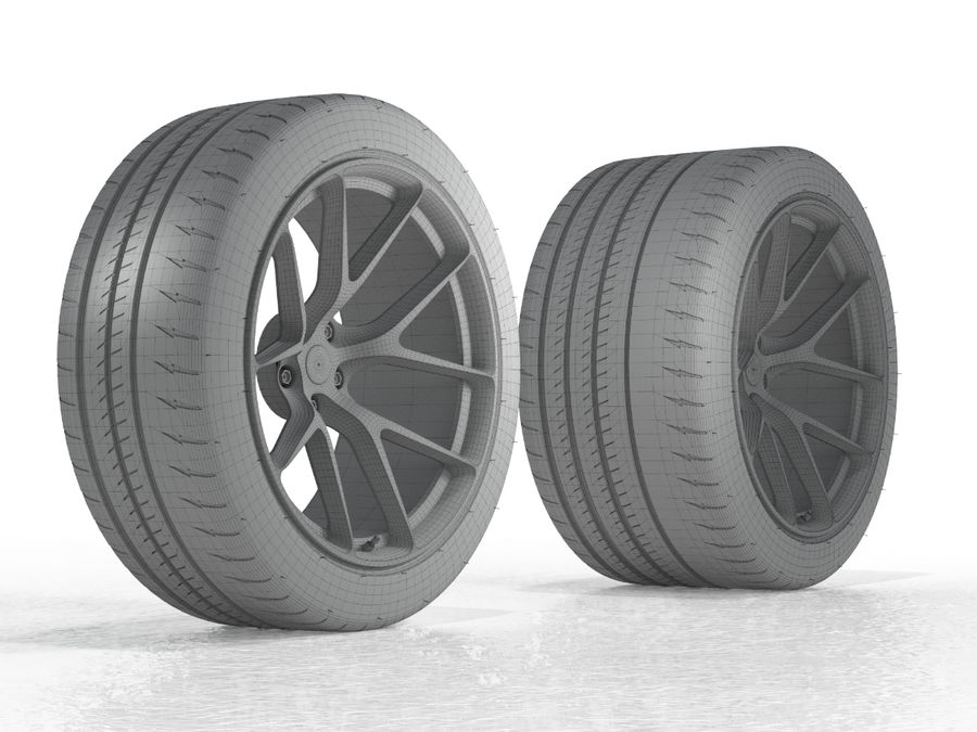 Michelin Pilot Sport Cup 2 royalty-free 3d model - Preview no. 19