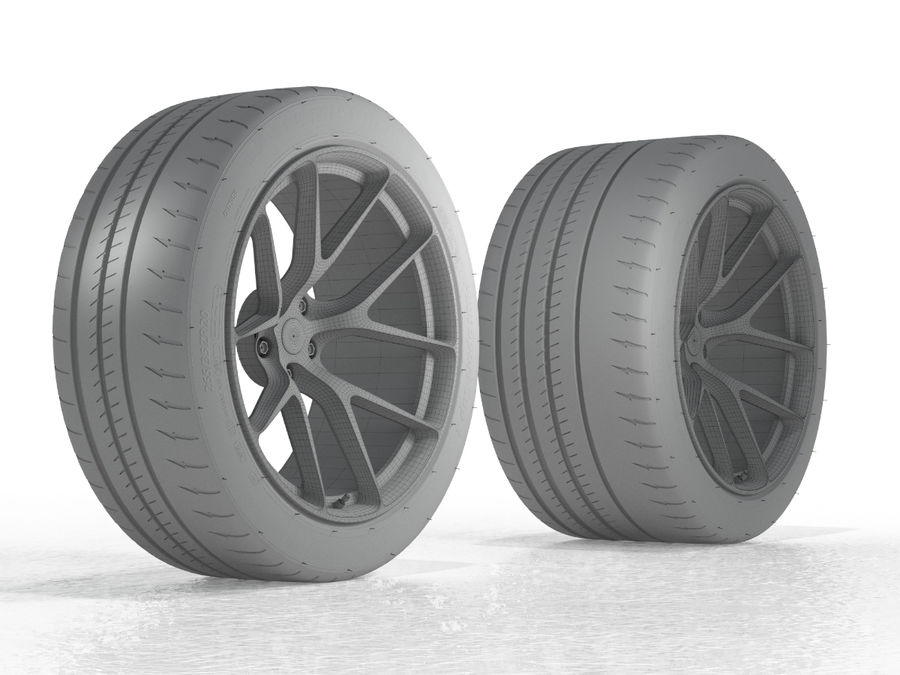 Michelin Pilot Sport Cup 2 royalty-free 3d model - Preview no. 14