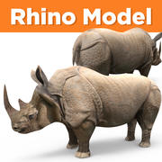 Rhino low poly 3d model