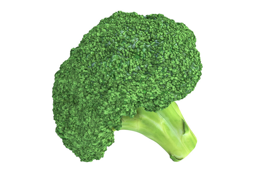 Broccoli High Poly PBR royalty-free 3d model - Preview no. 3