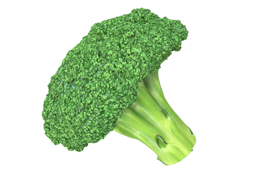 Broccoli High Poly PBR royalty-free 3d model - Preview no. 6
