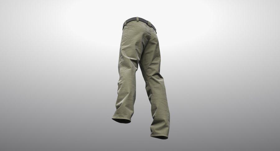 Cargo Pants (Khaki) V-ray + PBR royalty-free 3d model - Preview no. 18
