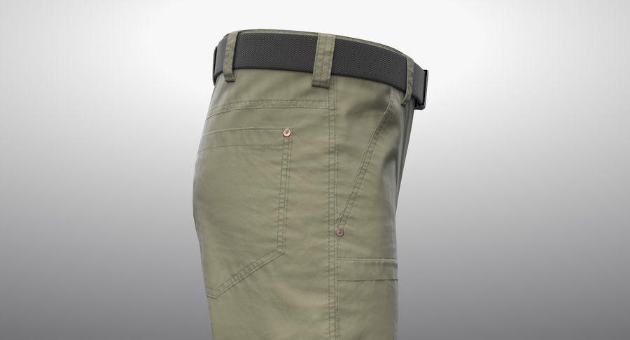 Cargo Pants (Khaki) V-ray + PBR royalty-free 3d model - Preview no. 4