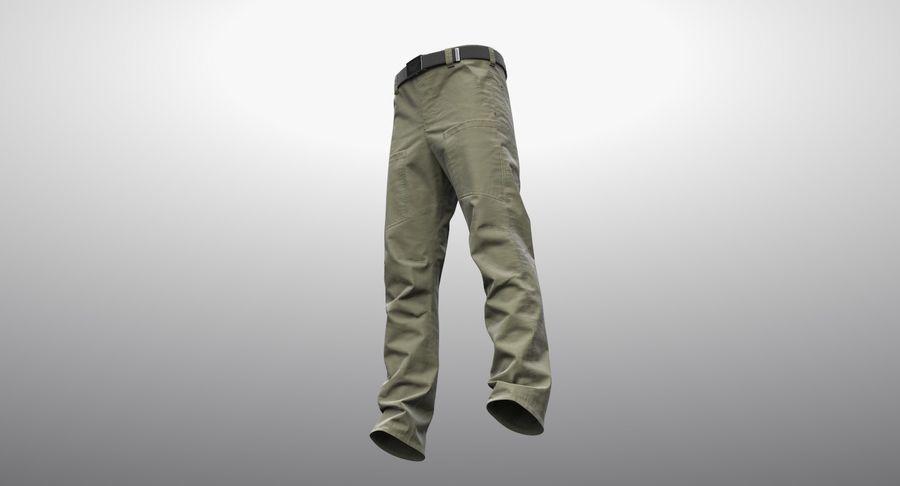 Cargo Pants (Khaki) V-ray + PBR royalty-free 3d model - Preview no. 16