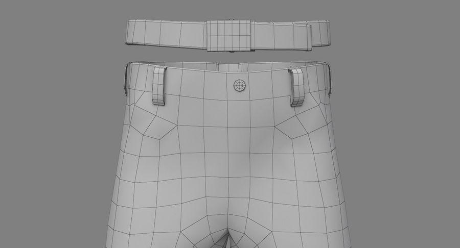 Cargo Pants (Khaki) V-ray + PBR royalty-free 3d model - Preview no. 25