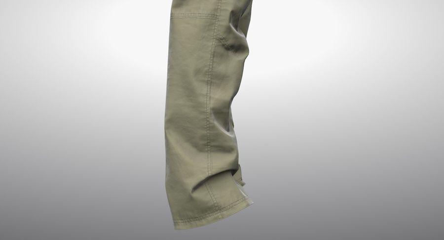 Cargo Pants (Khaki) V-ray + PBR royalty-free 3d model - Preview no. 9