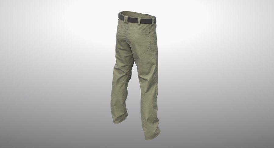 Cargo Pants (Khaki) V-ray + PBR royalty-free 3d model - Preview no. 11