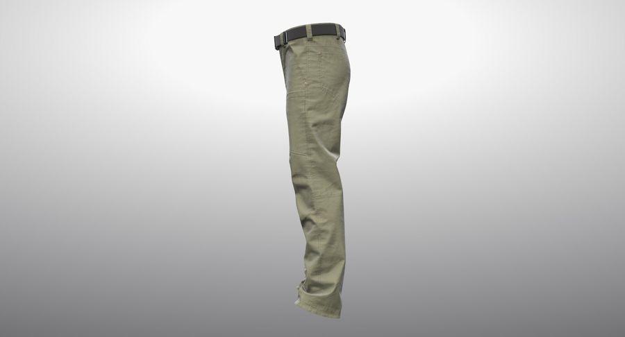 Cargo Pants (Khaki) V-ray + PBR royalty-free 3d model - Preview no. 15