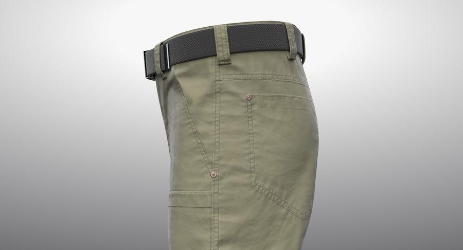 Cargo Pants (Khaki) V-ray + PBR royalty-free 3d model - Preview no. 6