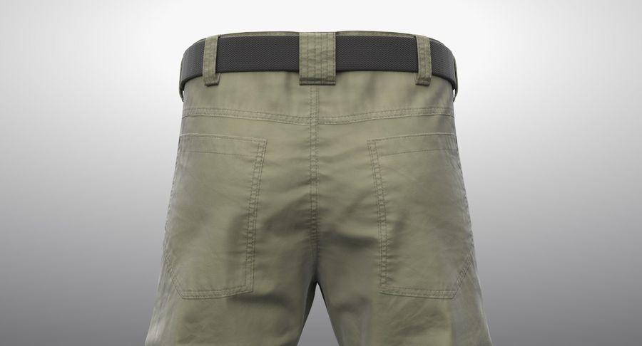 Cargo Pants (Khaki) V-ray + PBR royalty-free 3d model - Preview no. 5