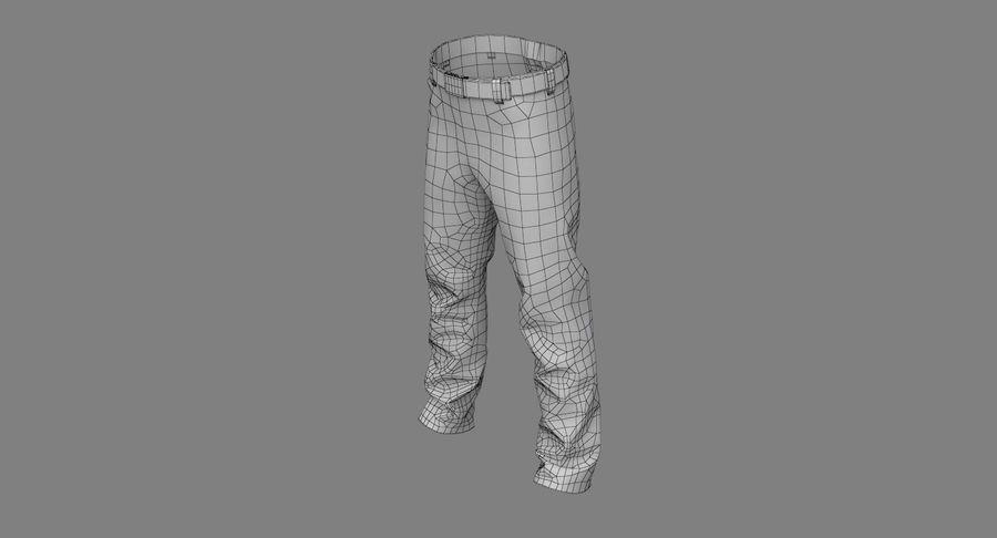 Cargo Pants (Khaki) V-ray + PBR royalty-free 3d model - Preview no. 31