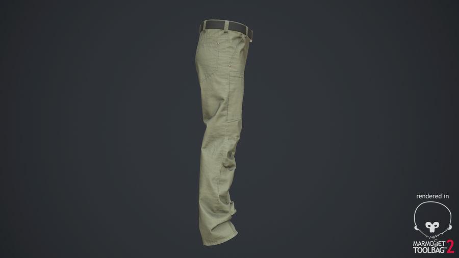 Cargo Pants (Khaki) V-ray + PBR royalty-free 3d model - Preview no. 20