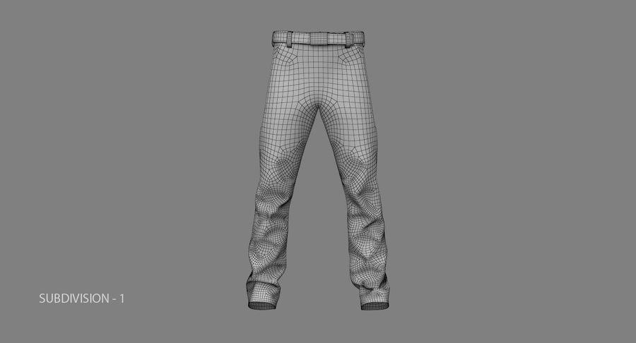 Cargo Pants (Khaki) V-ray + PBR royalty-free 3d model - Preview no. 24