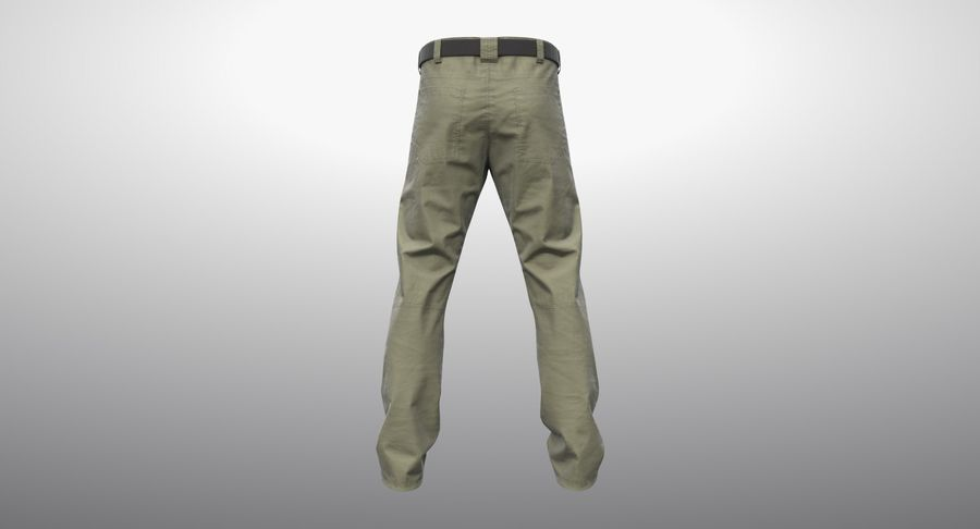 Cargo Pants (Khaki) V-ray + PBR royalty-free 3d model - Preview no. 14