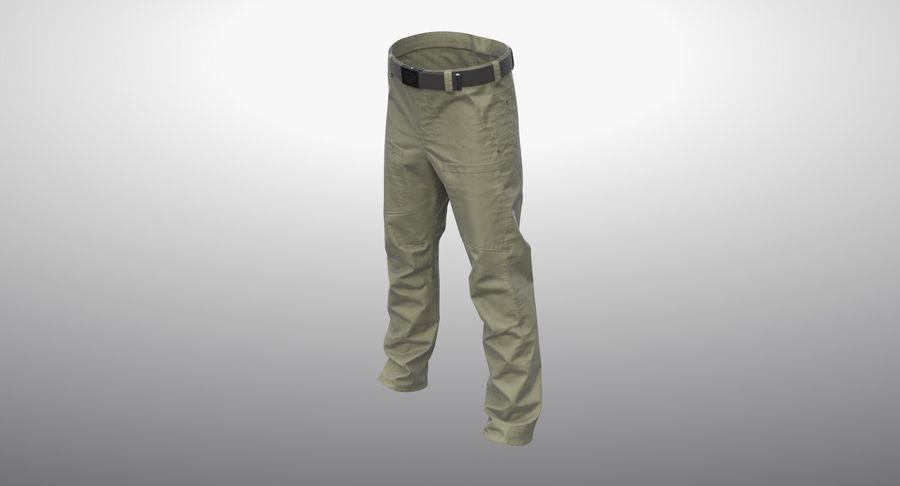 Cargo Pants (Khaki) V-ray + PBR royalty-free 3d model - Preview no. 10