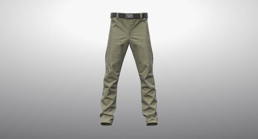 Cargo Pants (Khaki) V-ray + PBR royalty-free 3d model - Preview no. 12