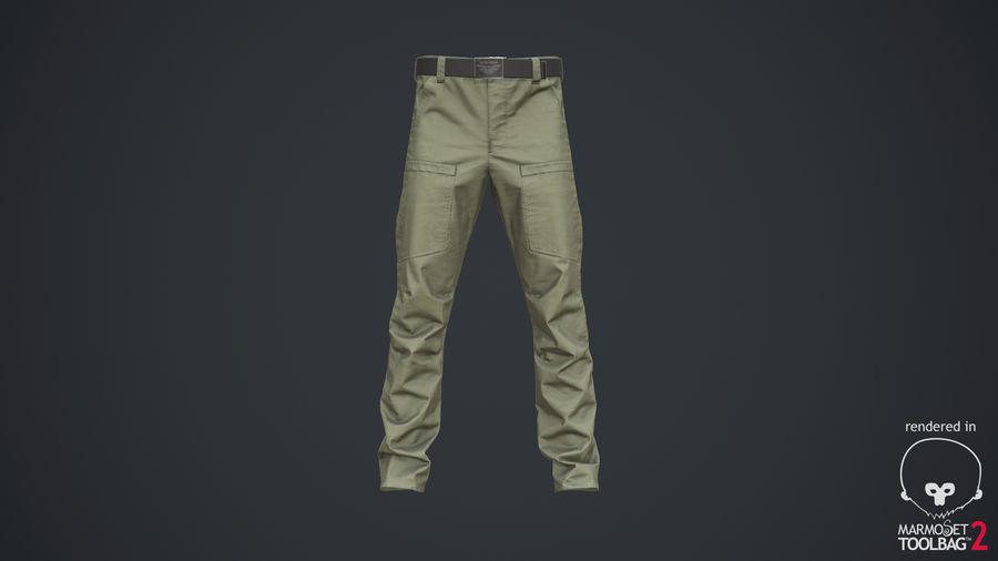 Cargo Pants (Khaki) V-ray + PBR royalty-free 3d model - Preview no. 19