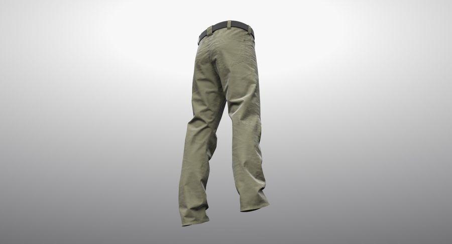 Cargo Pants (Khaki) V-ray + PBR royalty-free 3d model - Preview no. 17