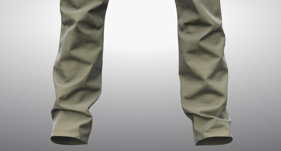 Cargo Pants (Khaki) V-ray + PBR royalty-free 3d model - Preview no. 8
